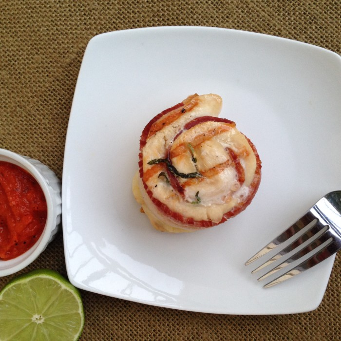 Paleo Chicken, Bacon, Tarragon Pinwheels